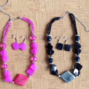 NWOT- necklaces with earrings with extenders